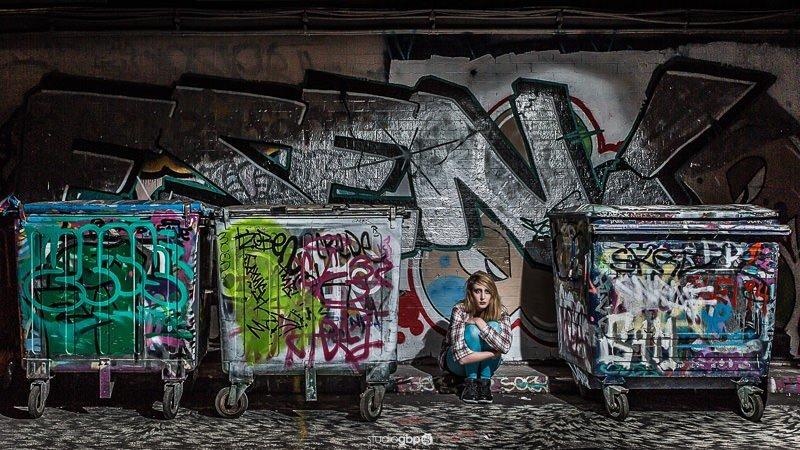 Portfolio Model Shoot - Waterloo Graffiti Tunnel Leake Street