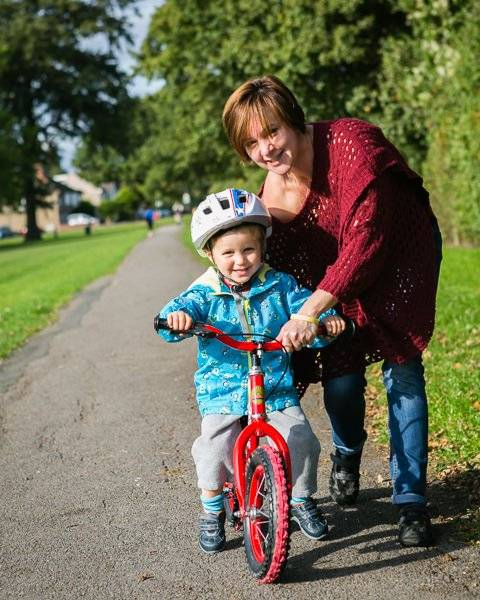 My Family Photographs - Learning to ride a bike