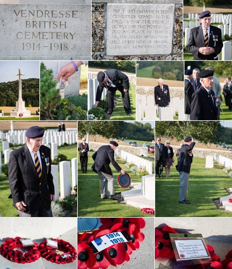 Vendresse British Cemetery - The Royal Sussex Regiment battlefield tour and Memorial 2014