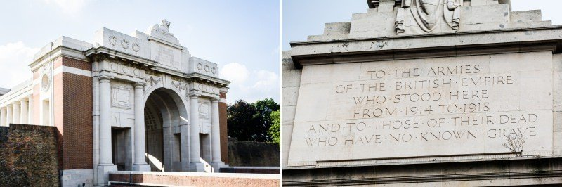 Menin Gate, Ypres Belgium - The Royal Sussex Regiment battlefield tour and Memorial 2014
