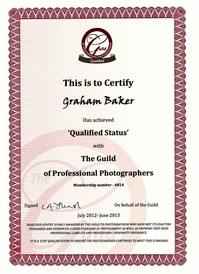 Qualified with the Guild of Photographers 2011